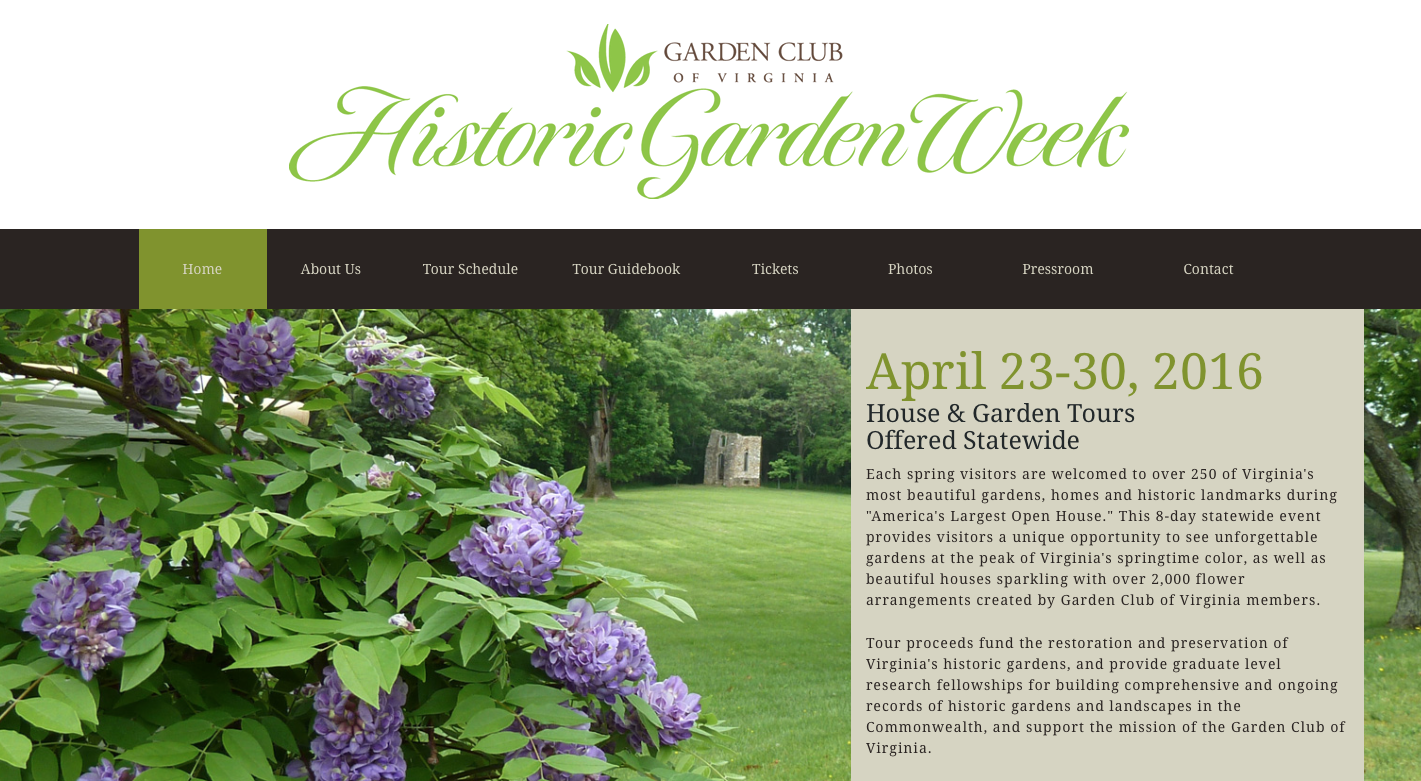 VA Historic Garden Week 2016