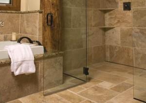 Channel drain Stone Shower