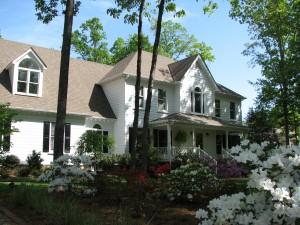 House w azaleas
